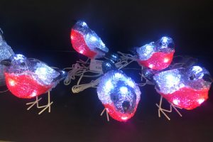 LED Christmas robins