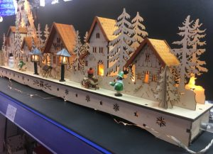 LED wooden Christmas scenes