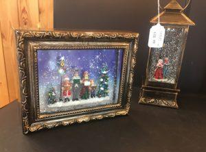 Christmas lanterns & picture frames